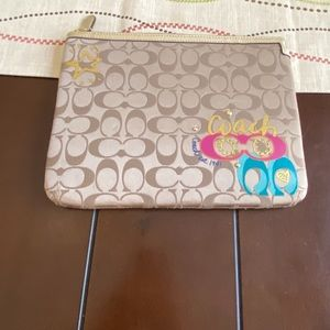 """Authentic """"Coach Poppy Collection"""" IPAD sleeve"""